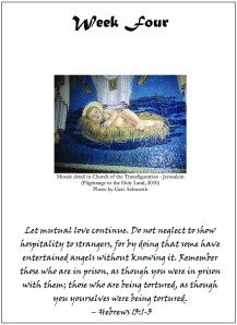 Page from Advent Meditations 2010