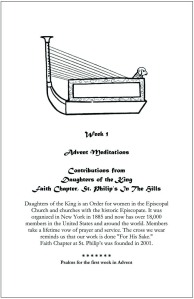 Divider page from 2011 booklet