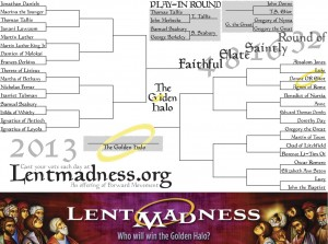 Lent Madness bracket