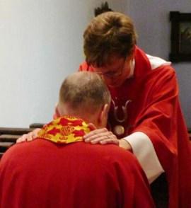 Vicki blessing Bishop