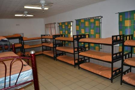 beds at migrant shelter