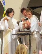 Baptism at the outdoor Easter service