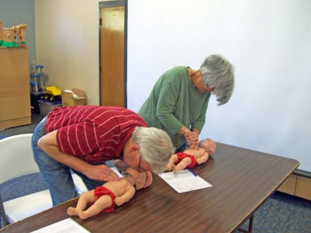 CPR on infants