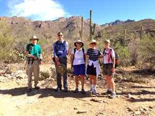 Hikers at Sabino