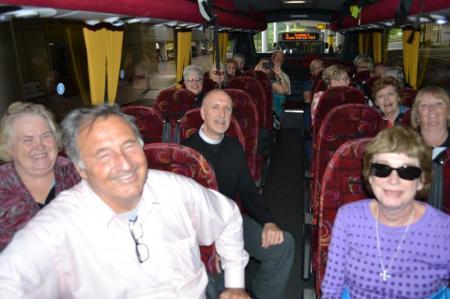 pilgrims on bus