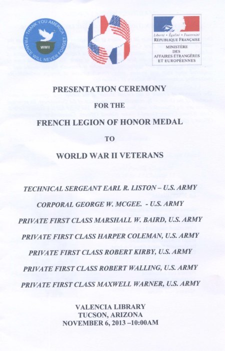 program from ceremony