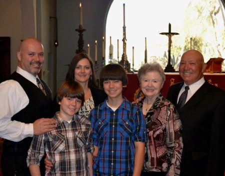 Dick and Maralee Lopez (right) with Jason and Cindy, Cameron and Jacob Lopez