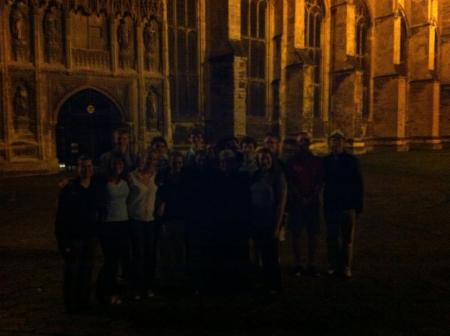 pilgrims canterbury night
