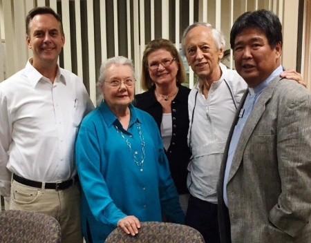 Dan Kautz, Mary Kautz, Sally Larsen (chair, St. Philip's Ministry Endowment Committee), James Kautz, the Rev. Canon John E. Kitagawa (Rector)