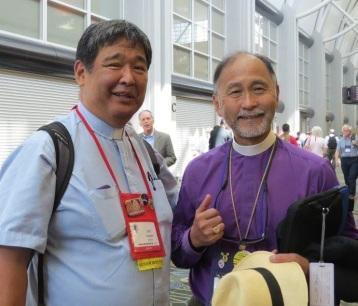John with the Rt. Rev. Scott B. Hayashi, Bishop of Utah