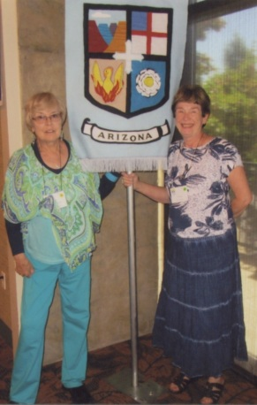 Nancy Williams and Elizabeth Weber represented St. Philip's Faith Chapter